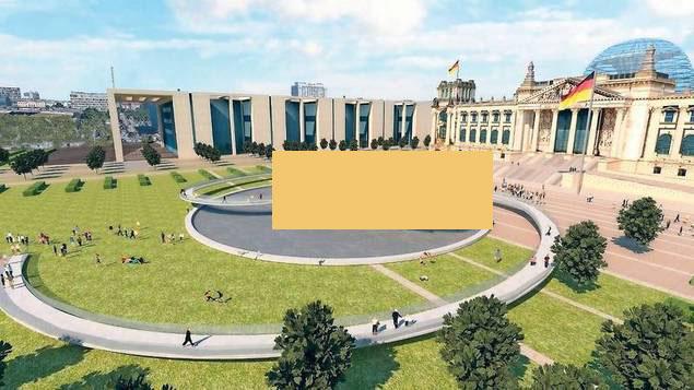 Einheitsdenkmal vor dem Reichstag