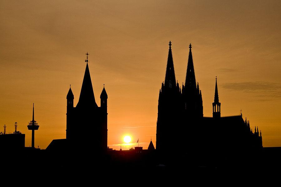Silhouette von Köln