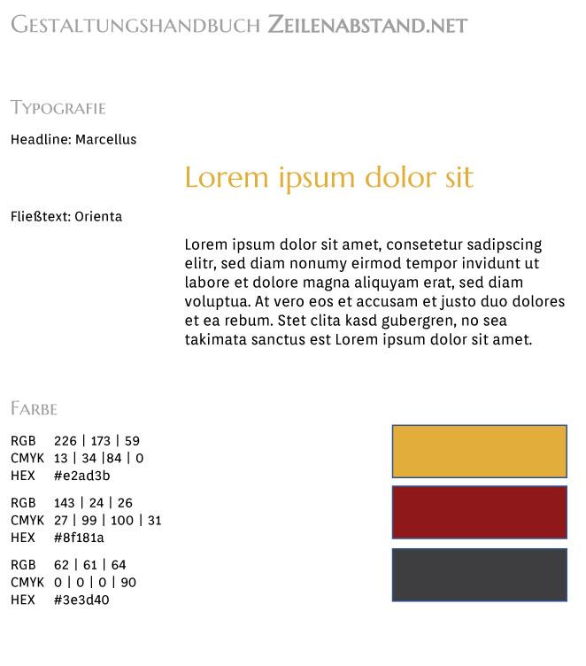 Gestaltungshandbuch Zeilenabstand.net