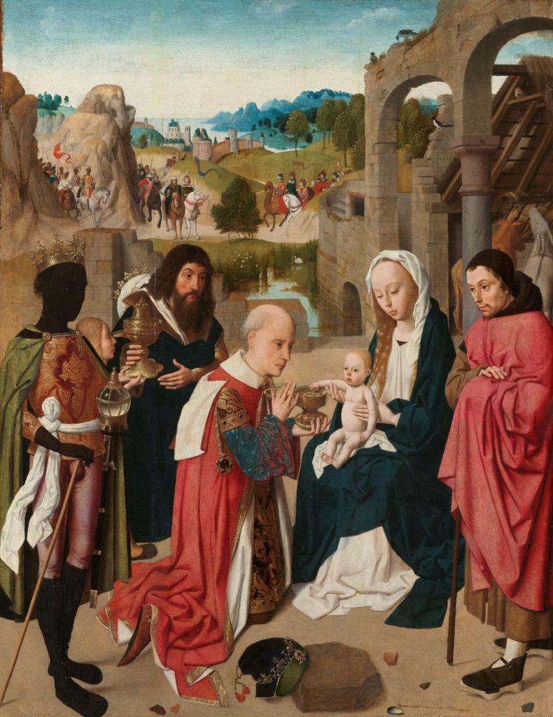 Geertgen tot Sint Jans - Die Anbetung der heiligen drei Könige