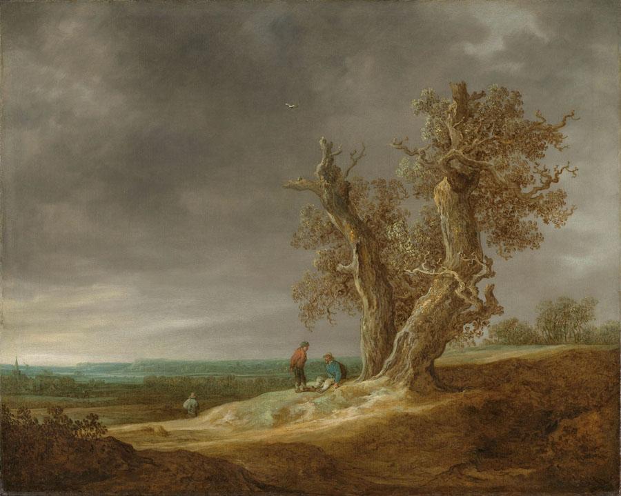 Jan van Goyen - Landschaft mit zwei Eichen
