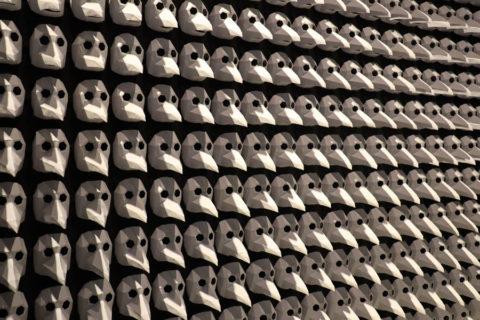 Archäologie-Museum Herne - Installation Schnabelmasken