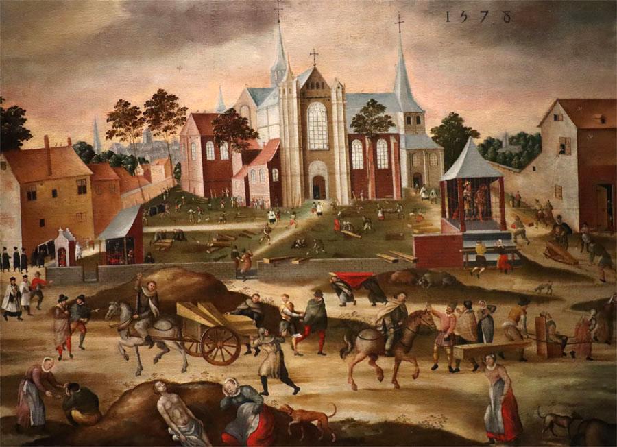 Die Pest in Löwen - Gemälde 1578