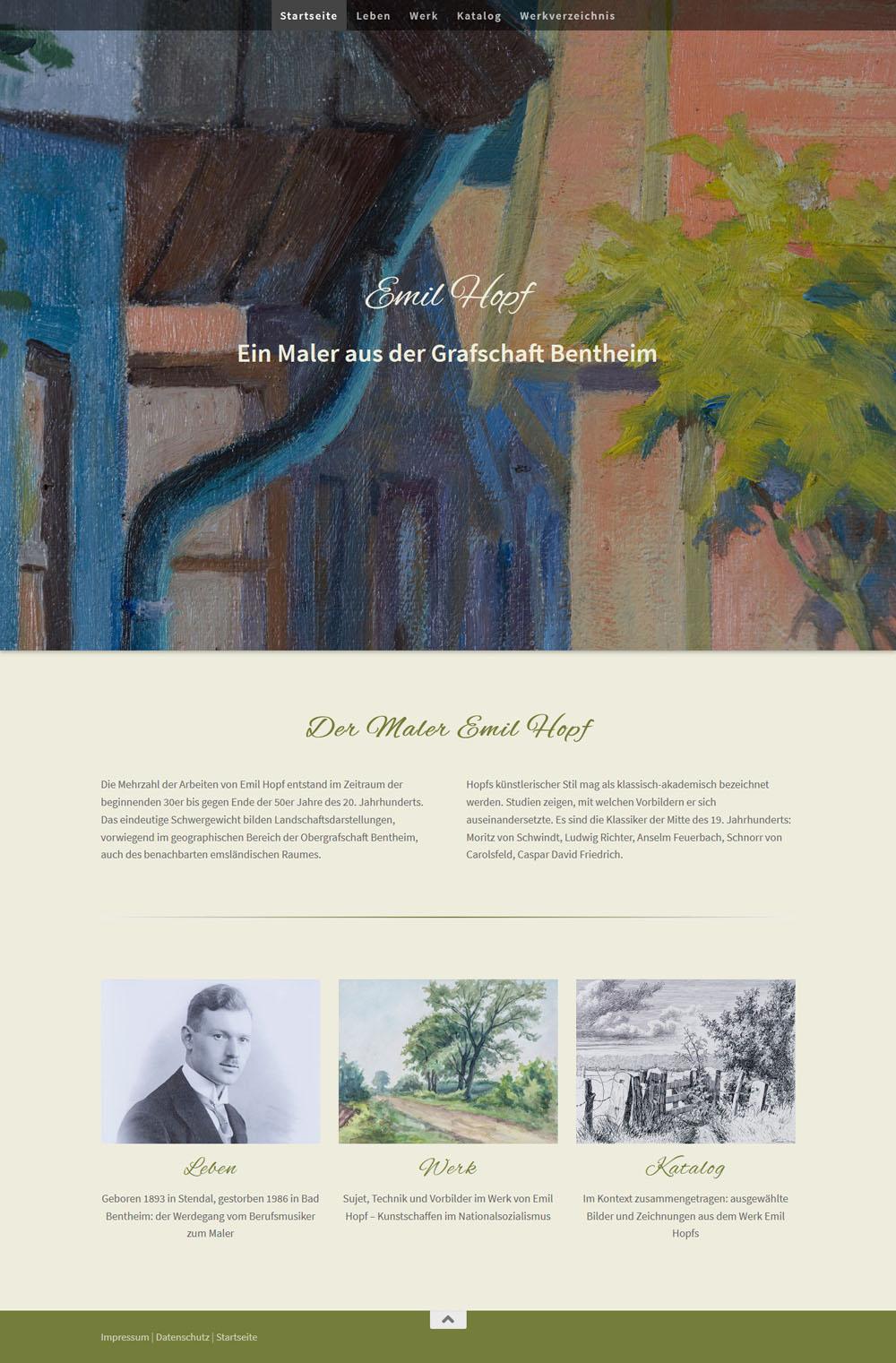Der Maler Emil Hopf