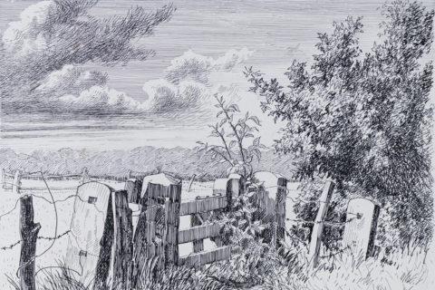 Emil Hopf - Weidetor am Malerweg, Bentheim