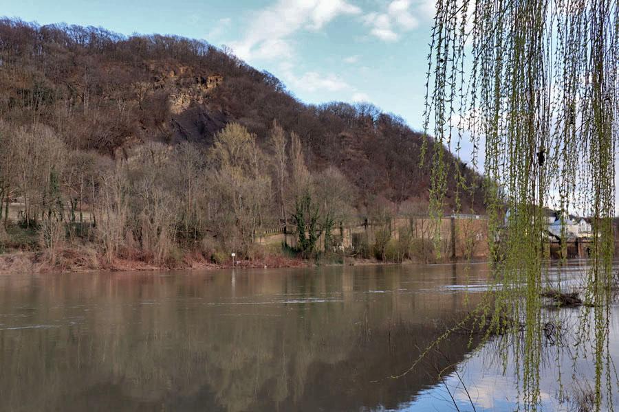Weserdurchbruch am Fähranleger Barkhausen