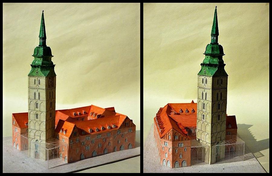 St. Ansgarii - Modell der Turmrekonstruktion
