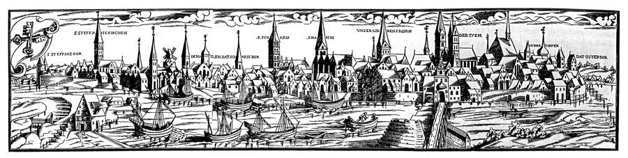 Stadtansicht Bremen 1564