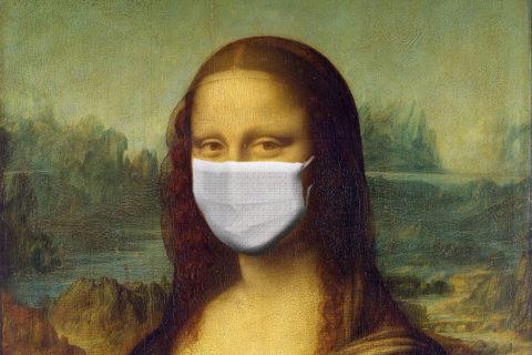 Mona Lisa mit Maske - Kultur und Corona