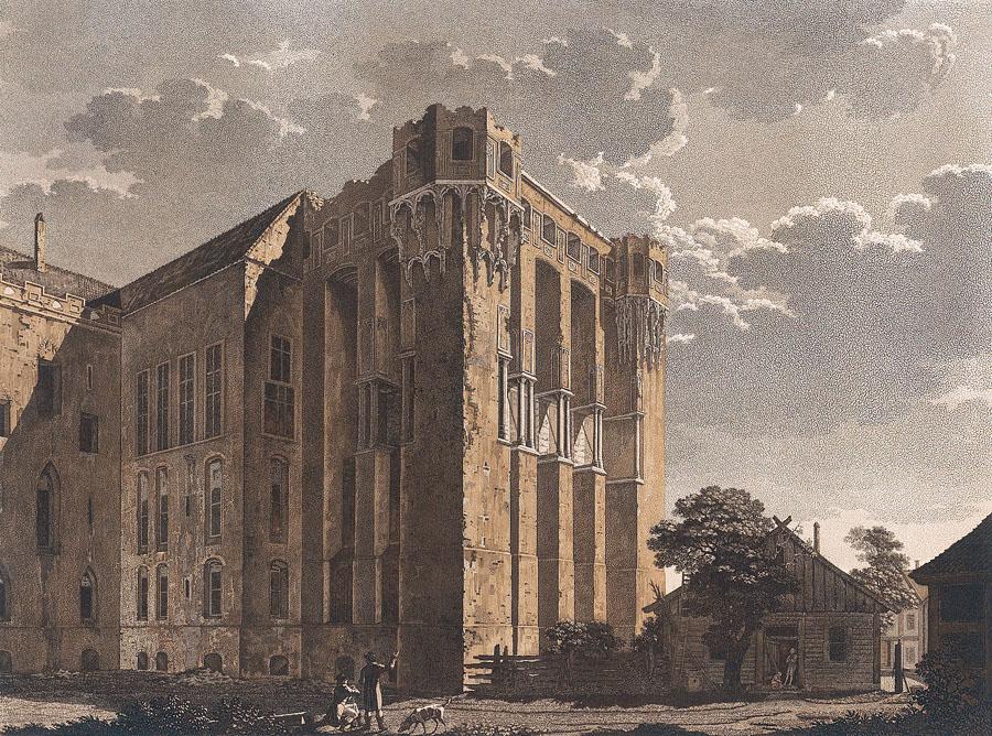 Hochmeisterpalast Marienburg nach Friedrich Gilly