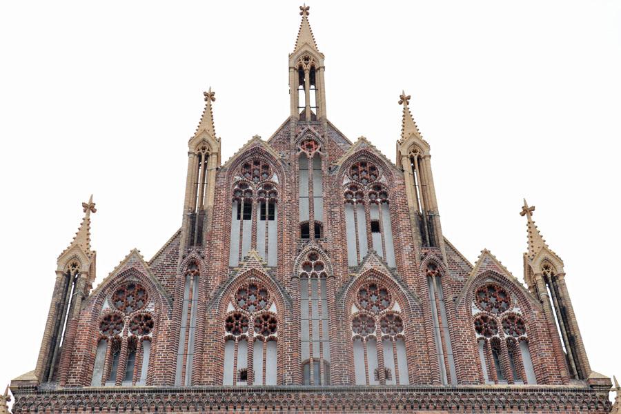 Neubrandenburg - Ostgiebel der Marienkirche