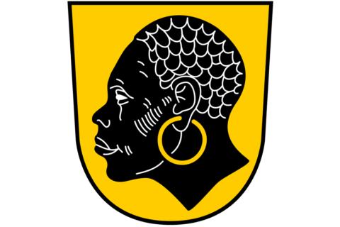 Coburger Stadtwappen mit dem Heiligen Mauritius