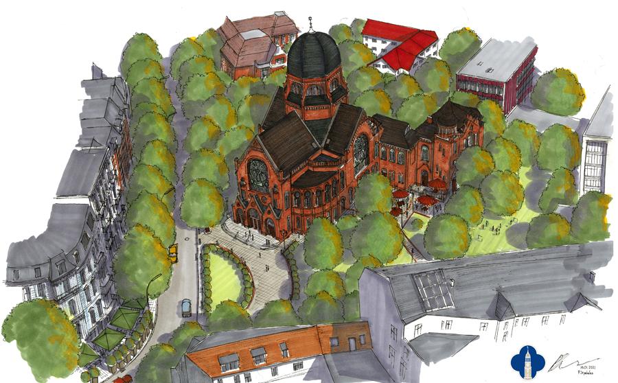 Bornplatzsynagoge - Entwurf Jeyabalan