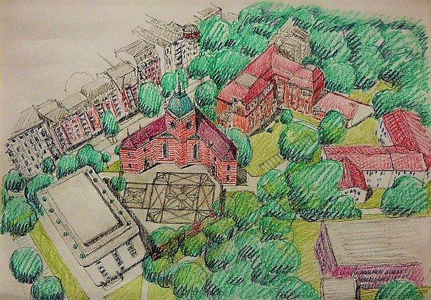 Bornplatzsynagoge - Entwurf Spellenberg