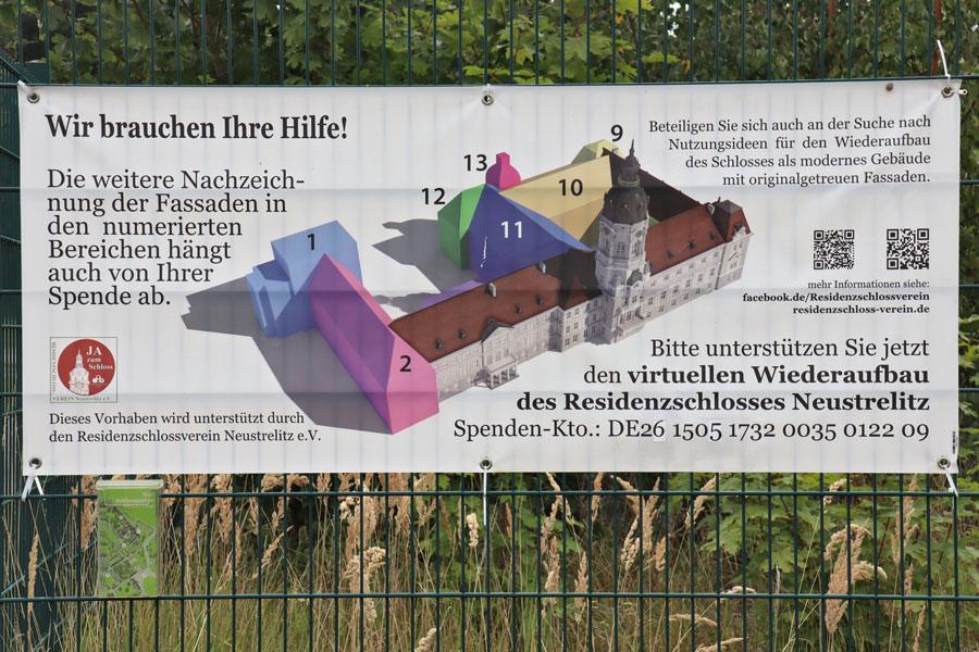 Neustrelitz - Rekonstruktion des Schlosses